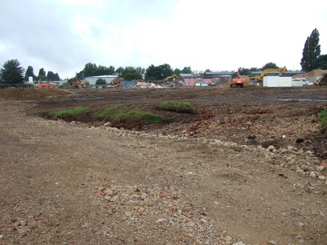 9th August 2013 - the site now pretty well levelled